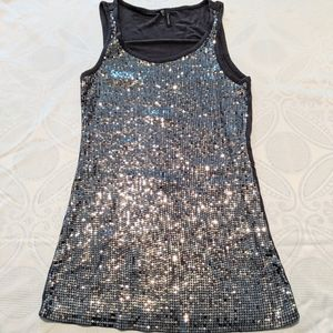 Maurice's Small Sequined Gray Tank
